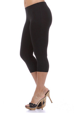 USA Cotton Capri Length Plus Size Leggings
