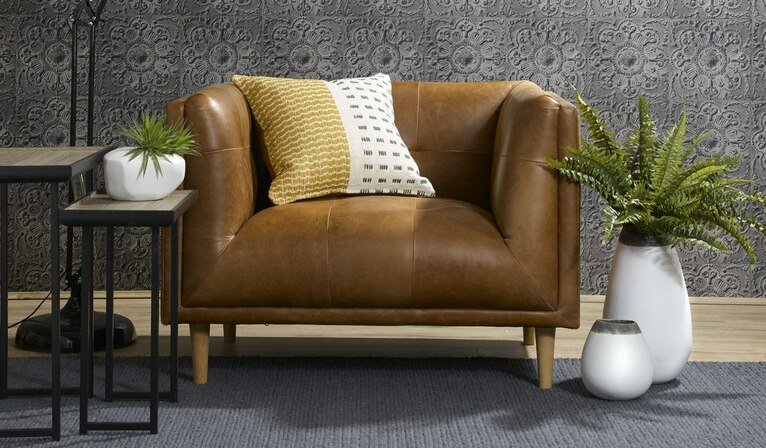 Fusion leather armchair