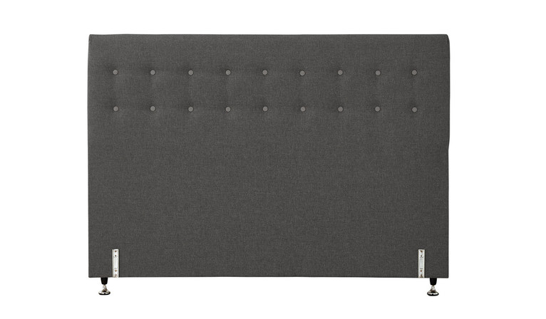 Tarlee bed head buttoned - Graphite