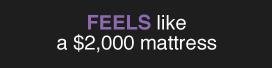 Feels like a $2,000 mattress