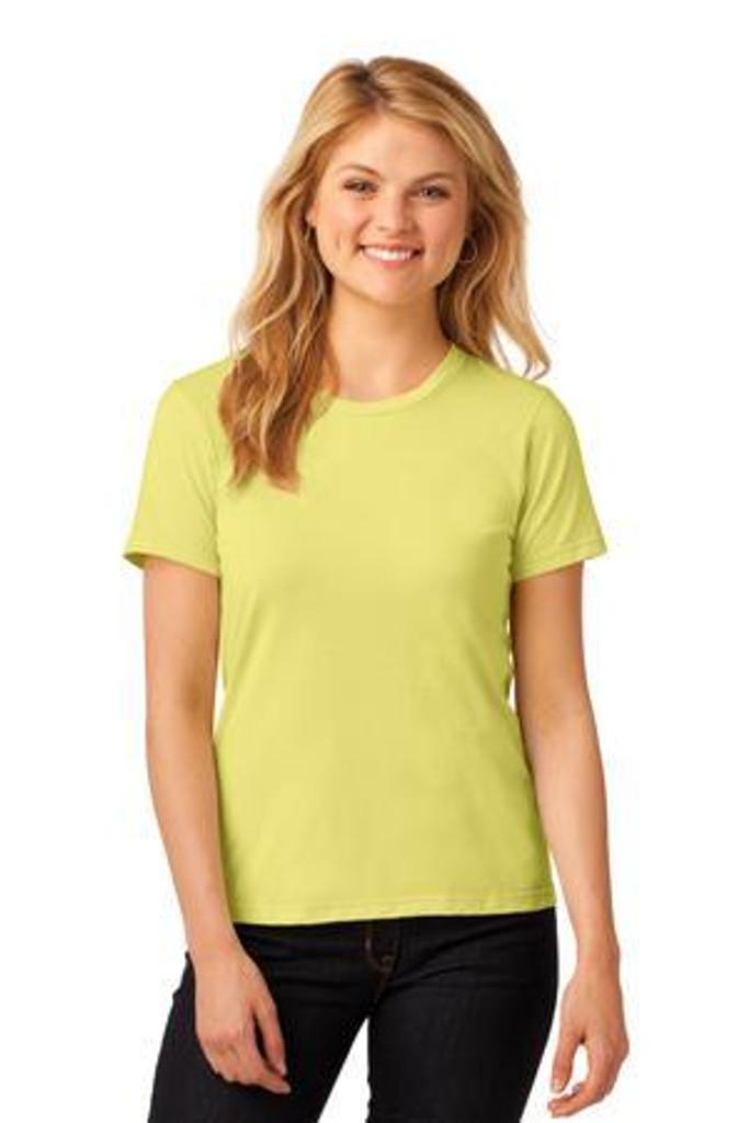 Ladies 100% Combed Ring Spun Cotton T-Shirt