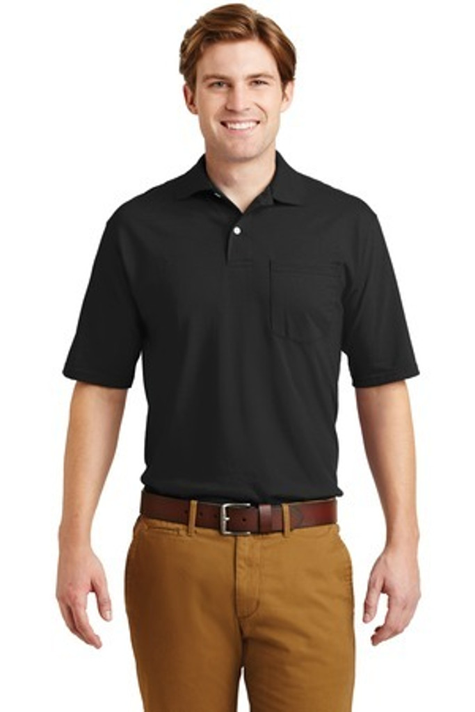 SpotShield 56-Ounce Jersey Knit Sport Shirt with Pocket