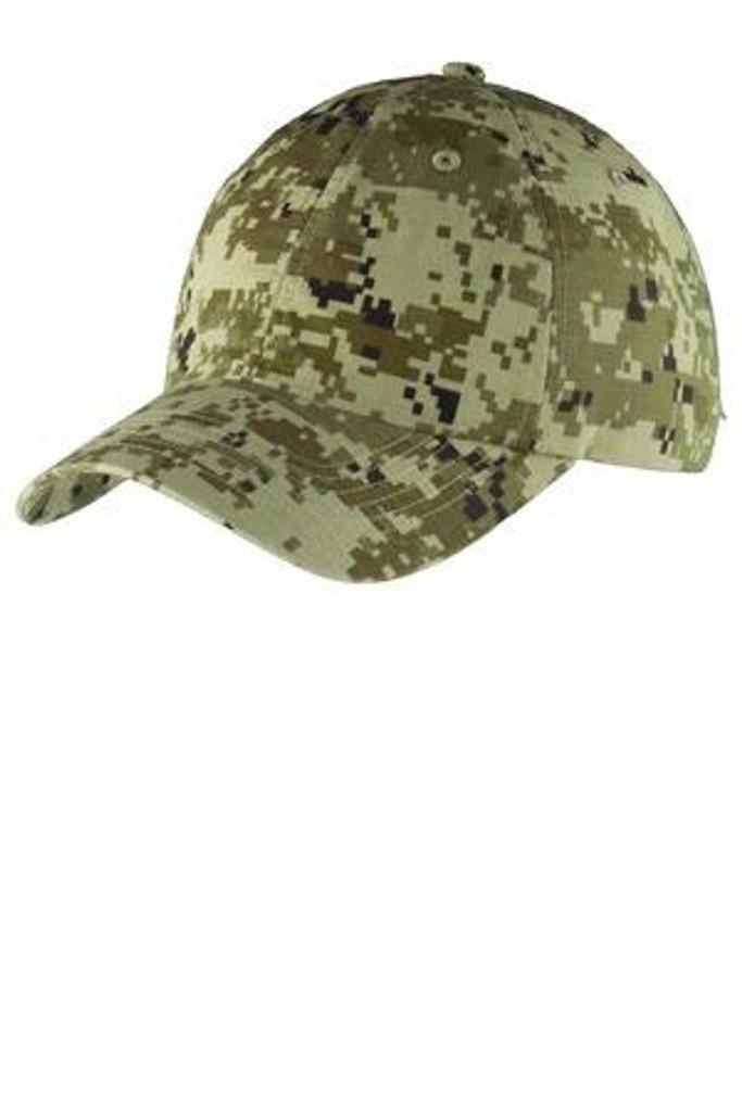 Digital Ripstop Camouflage Cap