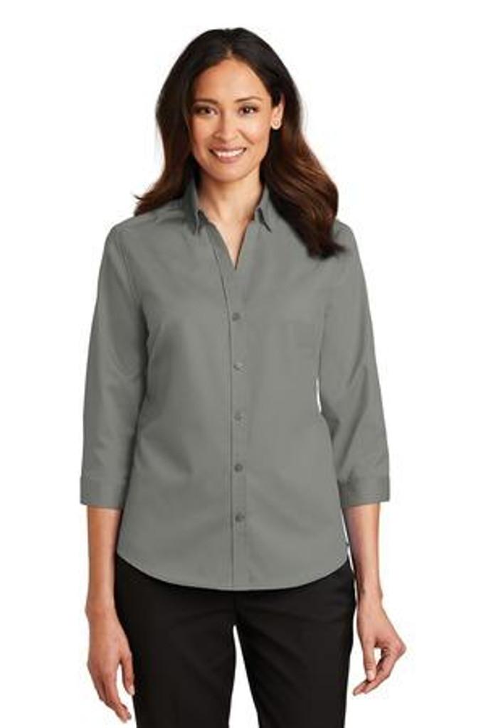 Ladies 3/4-Sleeve SuperPro Twill Shirt