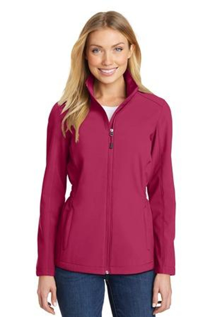 Ladies Cinch-Waist Soft Shell Jacket