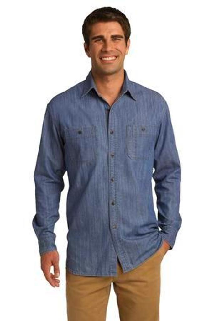 Patch Pockets Denim Shirt