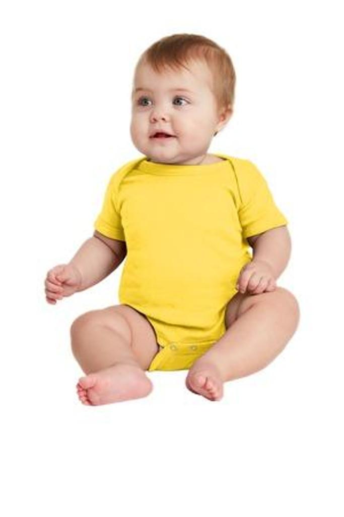 Infant Short Sleeve Baby Rib Bodysuit