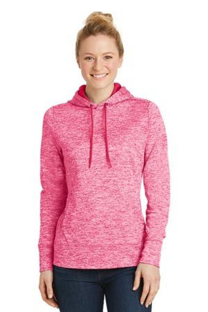 Ladies  Electric Heather Fleece Hooded Pullover