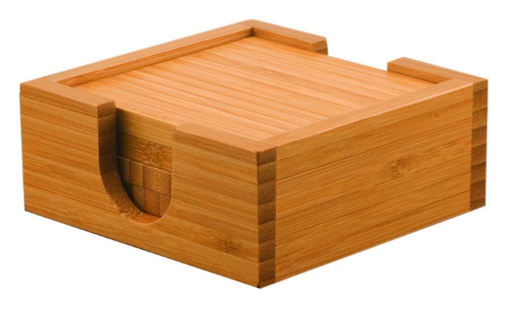 Bamboo 4-Coaster Set
