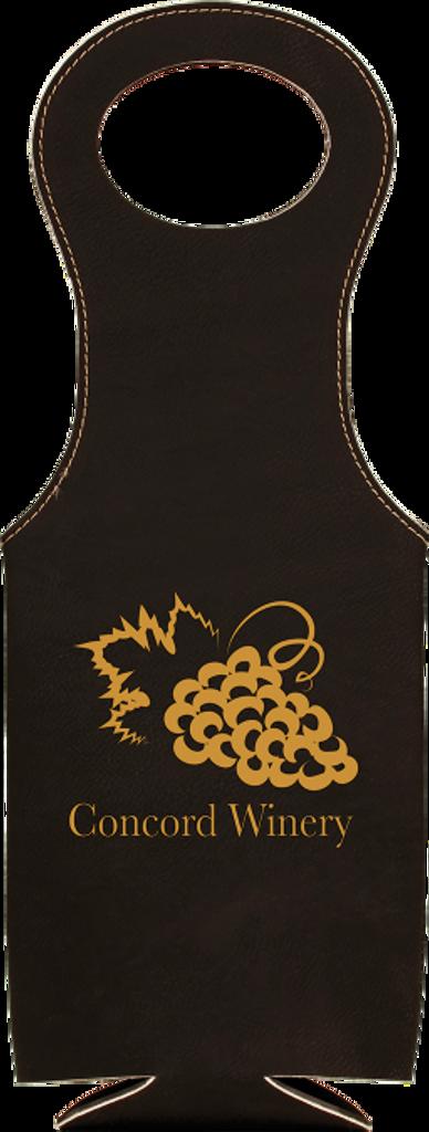 Black Leatherette Wine Bag