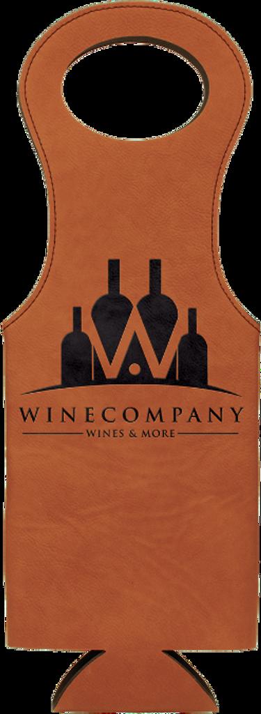 Rawhide Leatherette Wine Bag