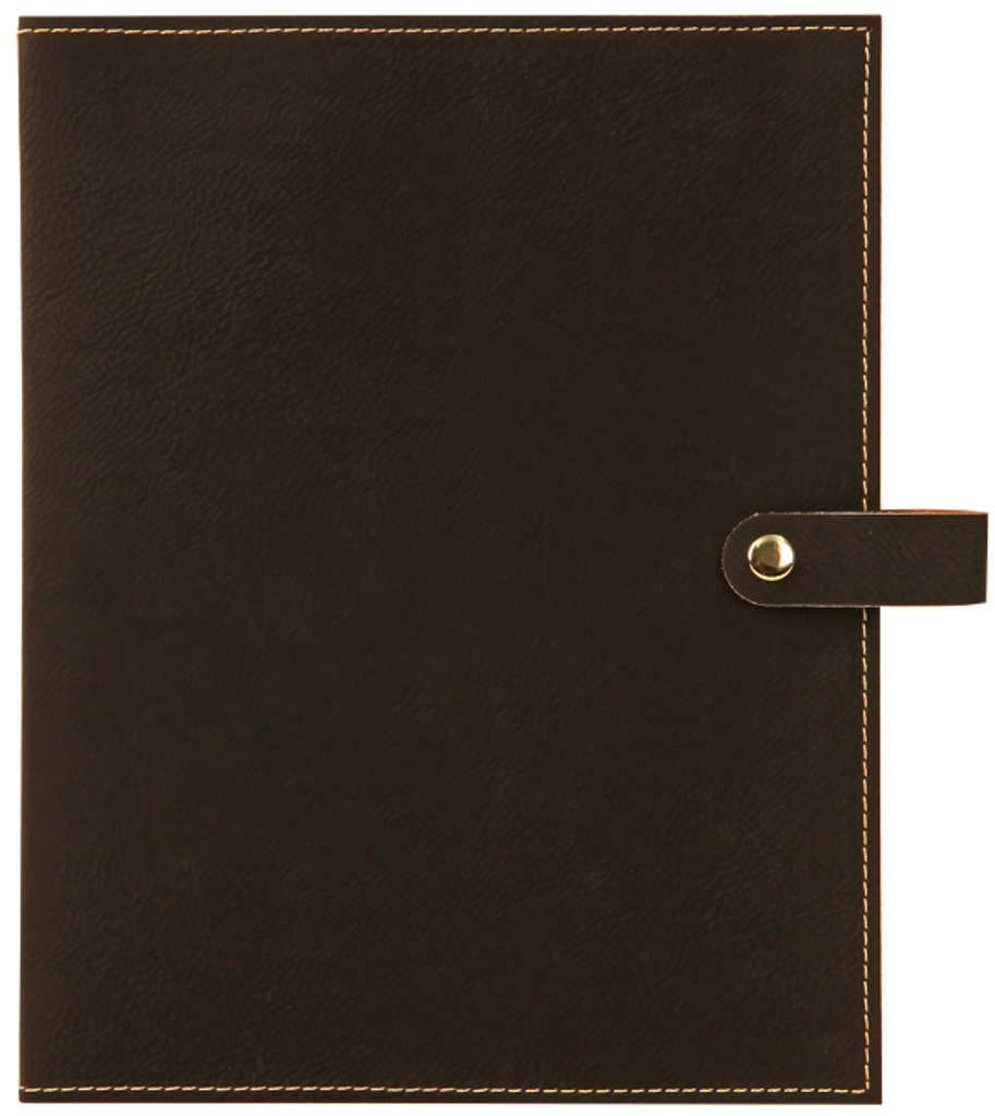 Black Leatherette Book/Bible Cover with Snap Closure