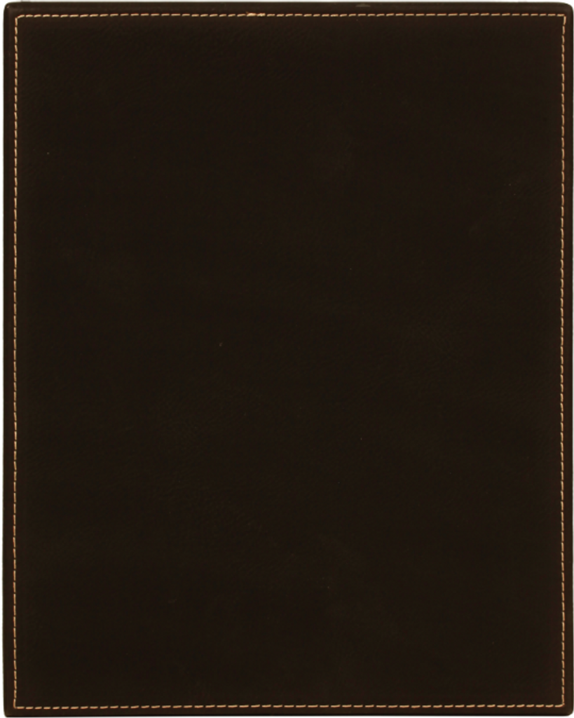 Black Leatherette Plaque