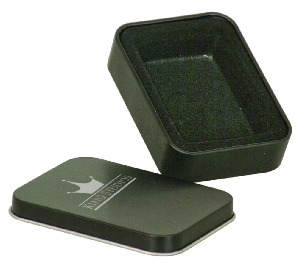 Black Laserable Lighter Tin