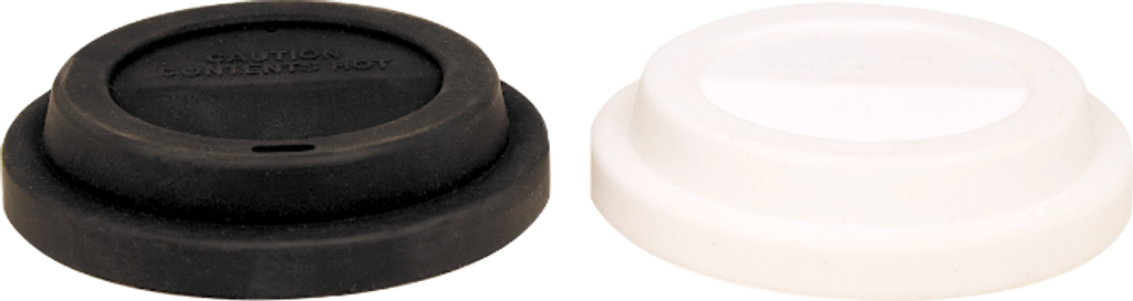 Black Flexible Silicone Lid for Latte Mugs