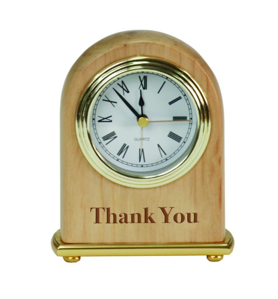Genuine Red Alder Desk Clock
