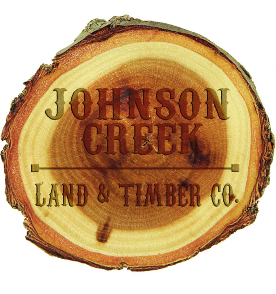 Old West Log 2 Wood Magnet