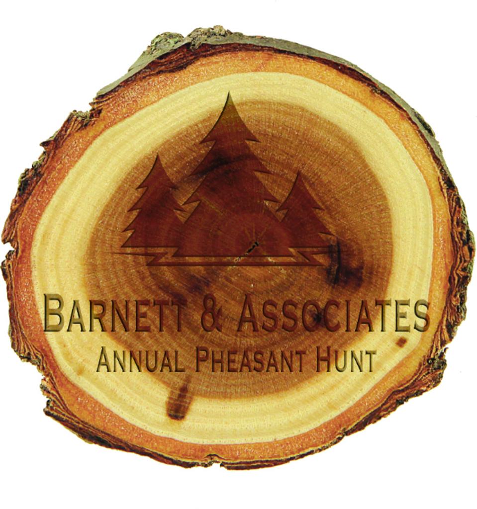 Old West Log 3 Wood Magnet