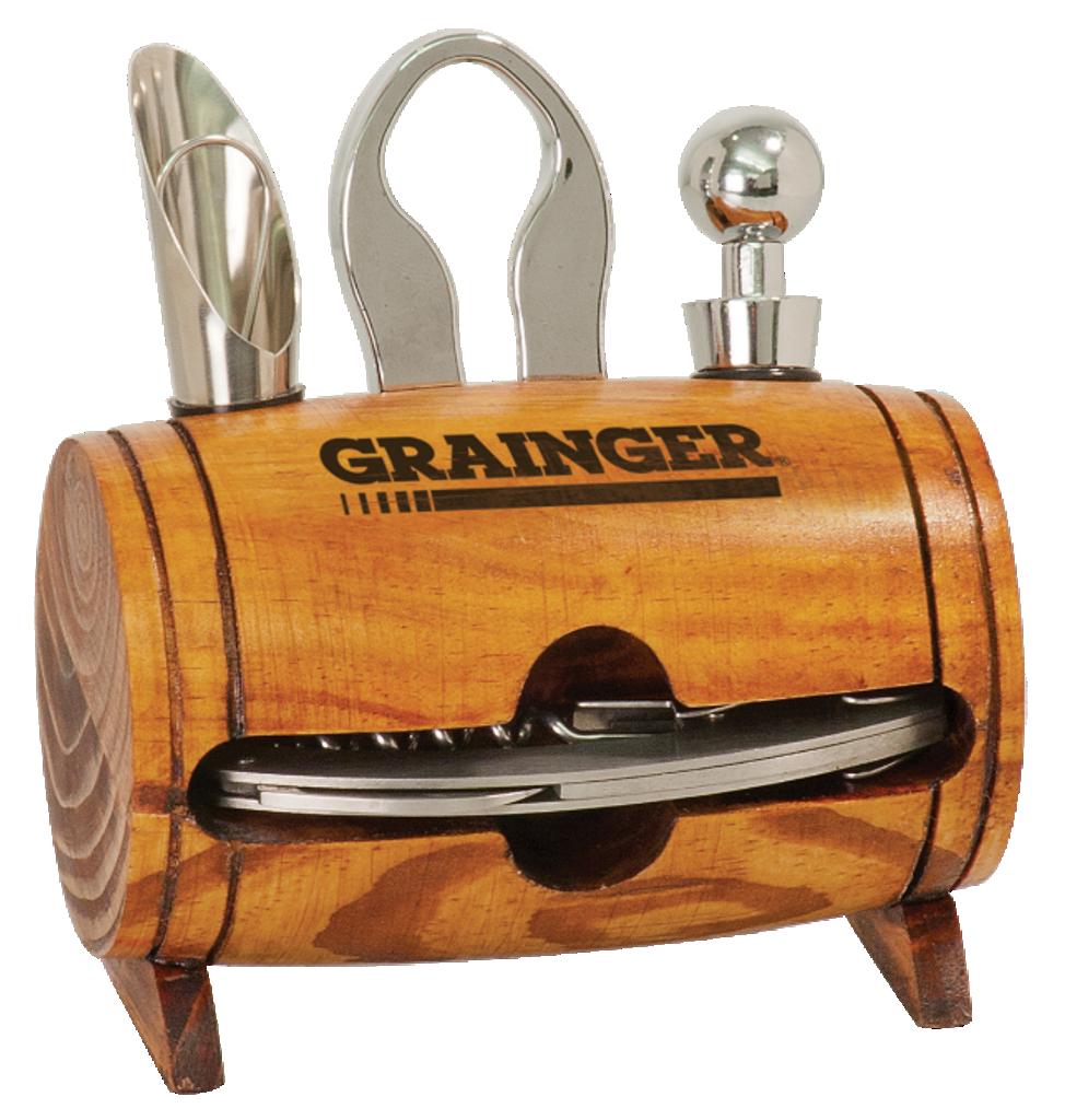 Wine Barrel 4-Piece Wine Tool Set