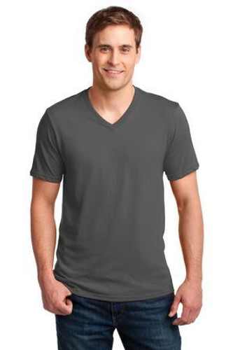100% Combed Ring Spun Cotton V-Neck T-Shirt