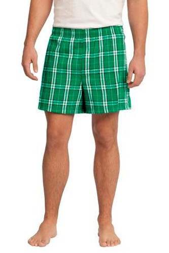 Young Mens Flannel Plaid Boxer