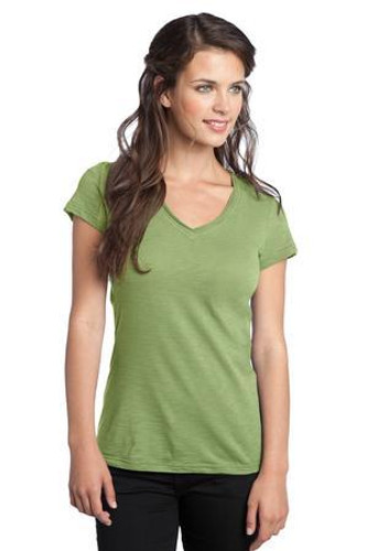 Juniors Slub V-Neck Tee