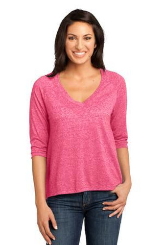 Ladies Microburn V-Neck Raglan Tee