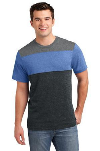 Young Mens Tri-Blend Pieced Crewneck Tee