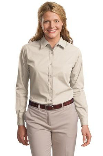 Ladies Long Sleeve Easy Care  Soil Resistant Shirt