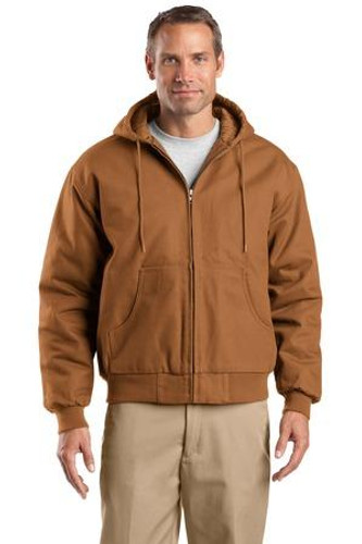 Tall Duck Cloth Hooded Work Jacket