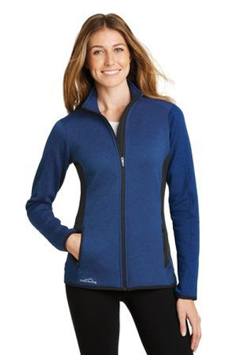 Ladies Full-Zip Heather Stretch Fleece Jacket