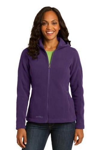 Ladies Hooded Full-Zip Fleece Jacket