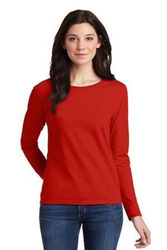 Ladies Heavy Cotton 100% Cotton Long Sleeve T-Shirt