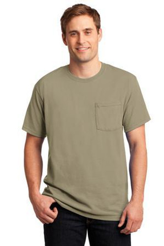 Dri-Power Active 50/50 Cotton/Poly Pocket T-Shirt