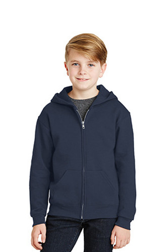 Youth NuBlend Full-Zip Hooded Sweatshirt