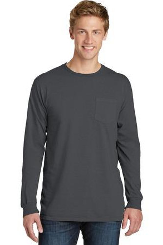 Pigment-Dyed Long Sleeve Pocket Tee