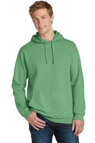 Pigment-Dyed Pullover Hooded Sweatshirt