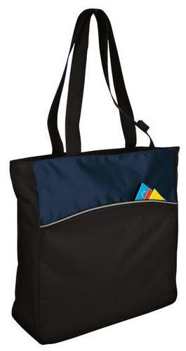 Two-Tone Colorblock Tote