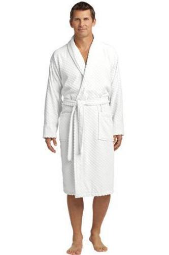 Checkered Terry Shawl Collar Robe