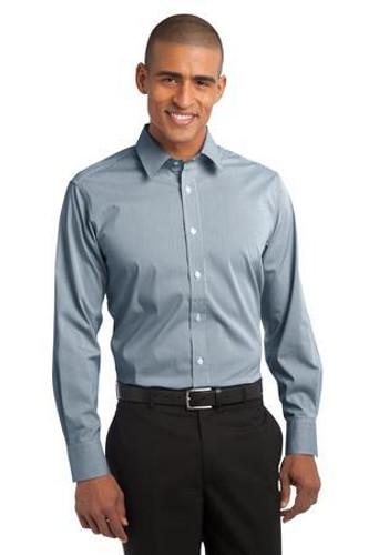 Fine Stripe Stretch Poplin Shirt