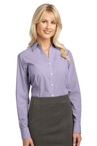 Ladies Plaid Pattern Easy Care Shirt