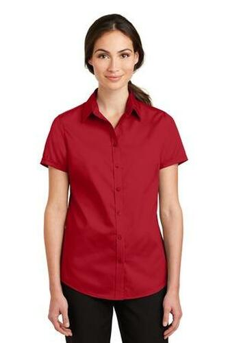 Ladies Short Sleeve SuperPro Twill Shirt