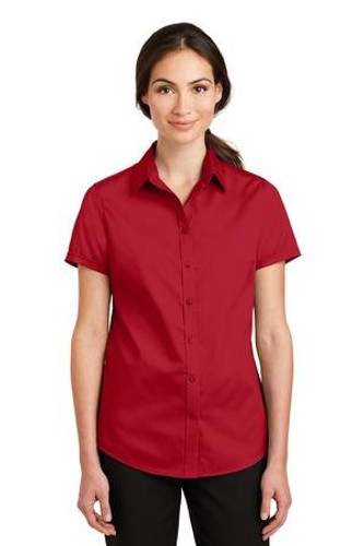 Ladies Short Sleeve SuperPro Twill Shirt