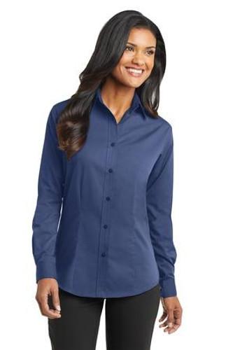 Ladies Tonal Pattern Easy Care Shirt