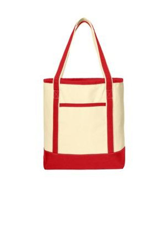 Large Cotton Canvas Boat Tote