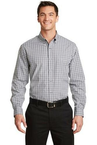 Long Sleeve Gingham Easy Care Shirt