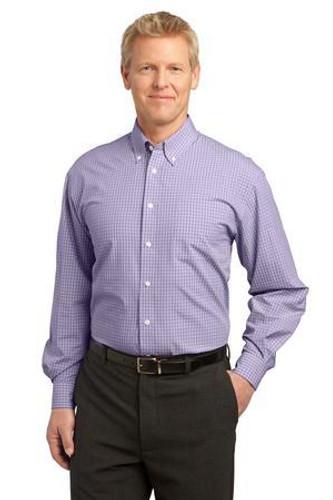 Plaid Pattern Easy Care Shirt