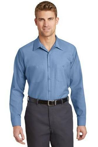 Long Size  Long Sleeve Industrial Work Shirt