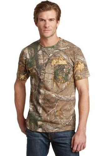 Realtree Explorer 100% Cotton T-Shirt with Pocket