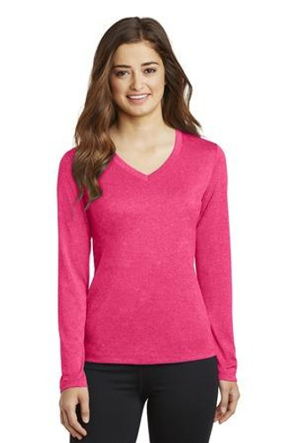 Ladies Long Sleeve Heather Contender V-Neck Tee